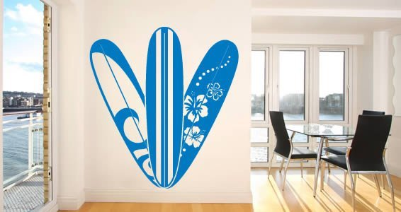 hawaii surfboard wall decals dezign with a z