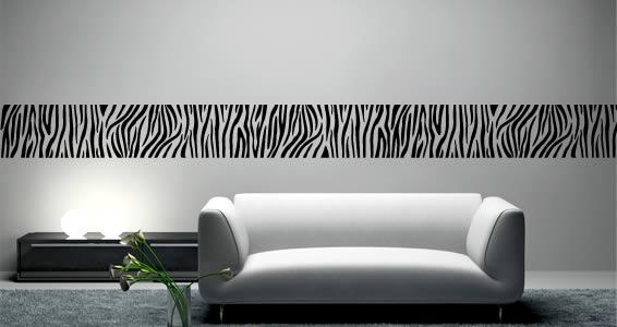 zebra prints wall decals