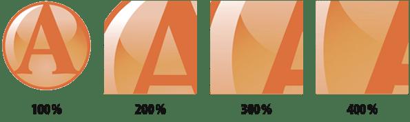Résolutions d'un logo vectorisé