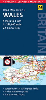 Wegenkaart landkaart 6 Road Map Britain Wales AA