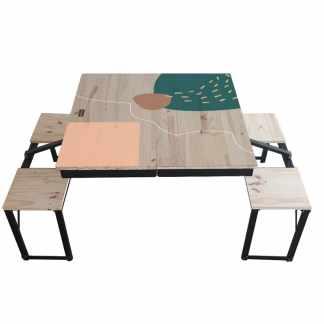 Table Dezyco motif Arty Scare