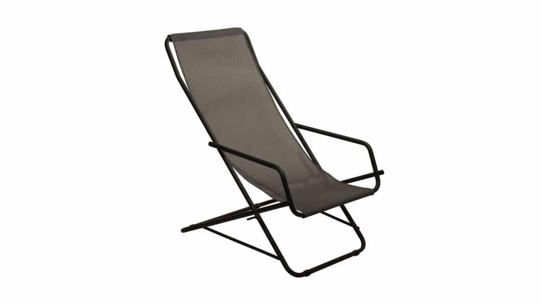 Fauteuil Pliable Design - Coloris Noir