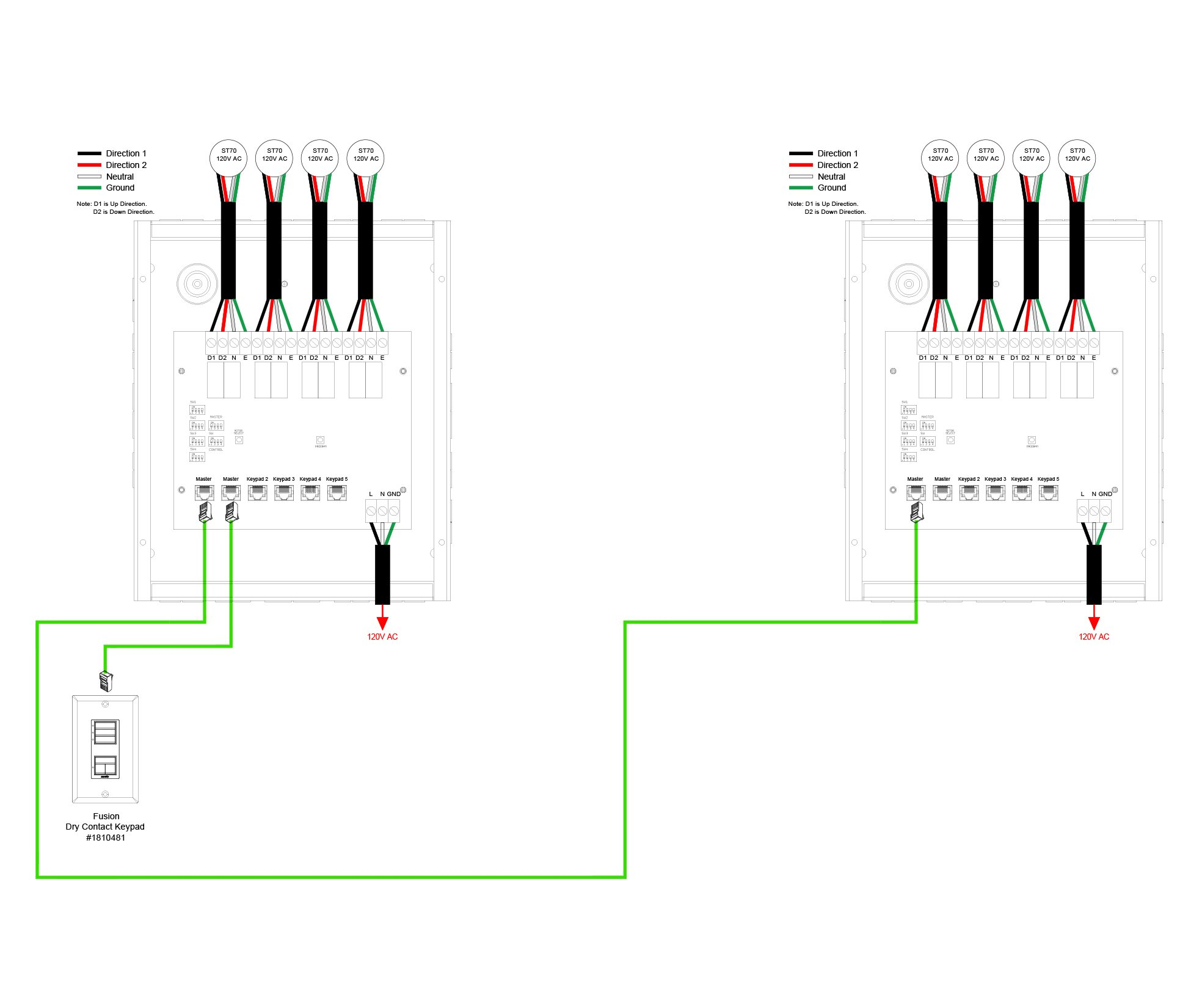 hight resolution of 05 line voltage 4 motor control interface to grafik eye wiring