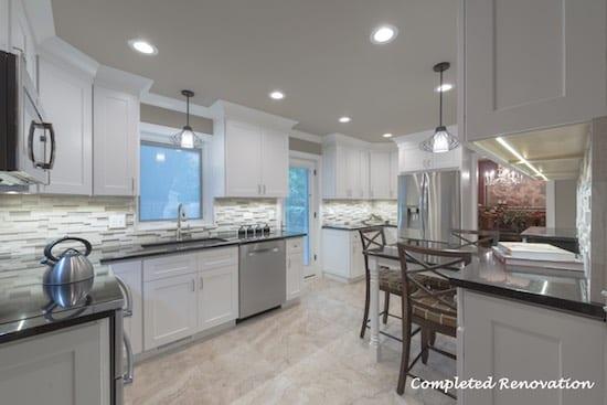 Completed Kitchen Design & Build Renovation