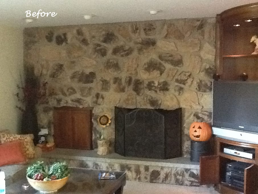 Before Barrington Fireplace Design