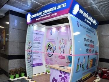 First Women's Convenience Lounge Delhi Metro DforDelhi