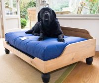 Berkeley Raised Wooden Dog Bed | English Oak | UK Made