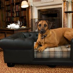 Large Dog Sofas French Sofa Set Designs Balmoral Black Leather Bed | Real Or Faux