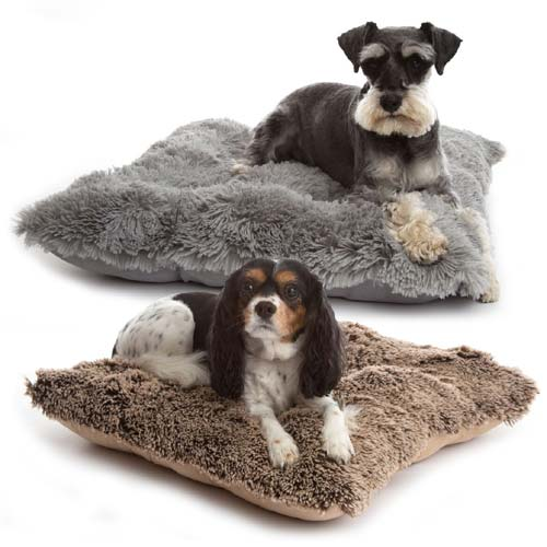 Deluxe Shaggy Pooch Pad  Luxury Faux Fur Dog Cushion