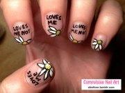 cute valentine's day nail art design