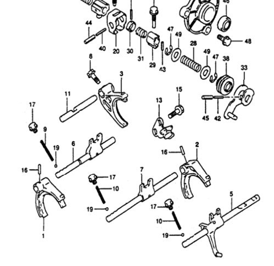 DFSK Parts Limited. Gearbox High Speed Selector Fork