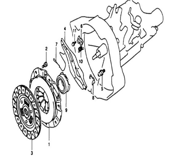 DFSK Parts Limited. Clutch Kit 4 Parts 1000cc Engine