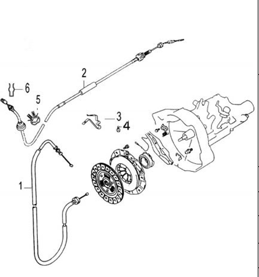 DFSK Parts Limited. Clutch Cable 1500cc Engine C31/C32 Models