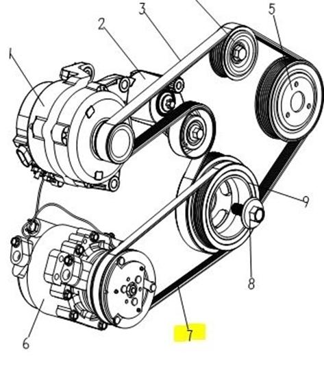 DFSK Parts Limited. Engine Air Con Pump Belt