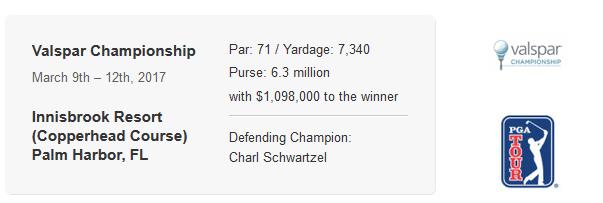 PGA Valspar Championship Research