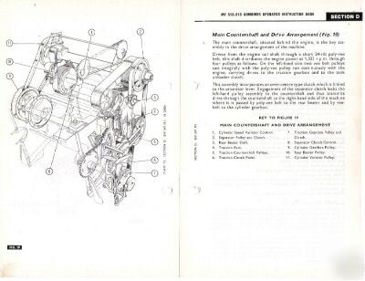 Massey ferguson mf 510 515 header combine owners manual