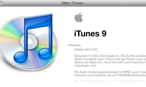 iTunes 9.03 Update steht bereit