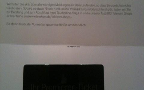 Das iPhone 5 Premieren Ticket