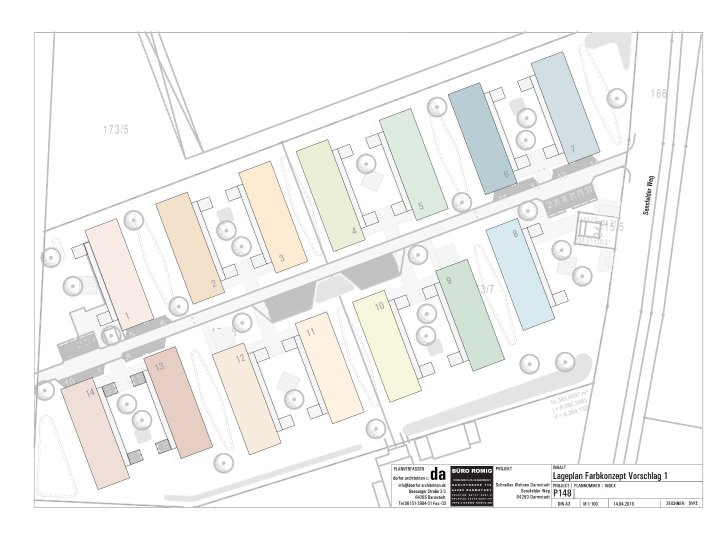 MFH-Siedlung Lageplan