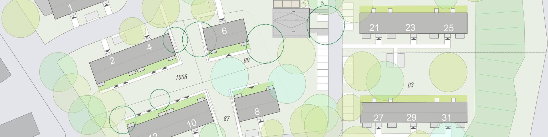 Siedlung Bochum Ausschnitt Lageplan
