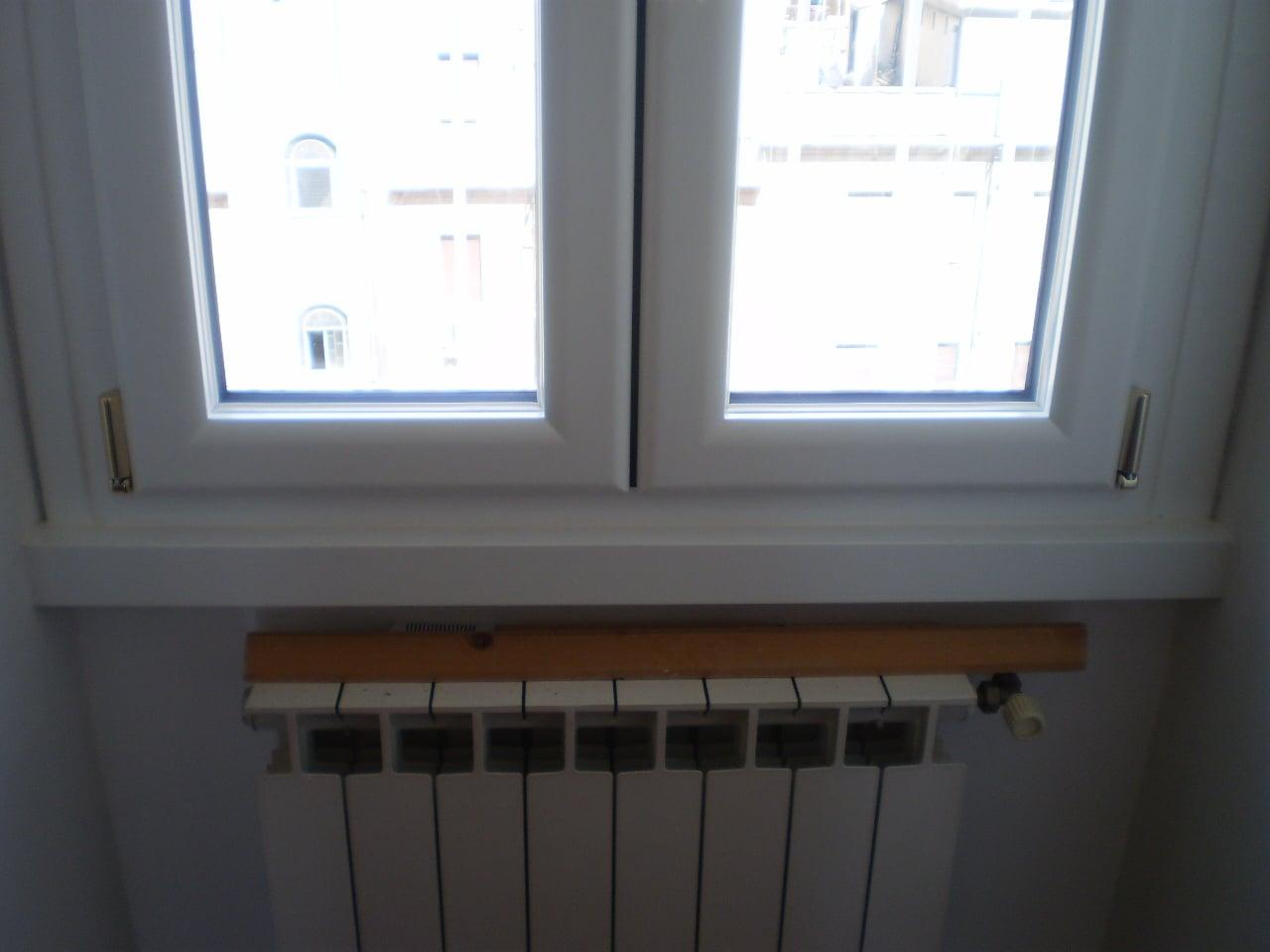 alluminio legno laccato bianco
