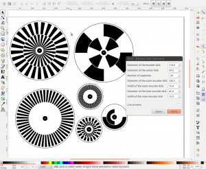 Inkscape extension for creating optical rotary encoder