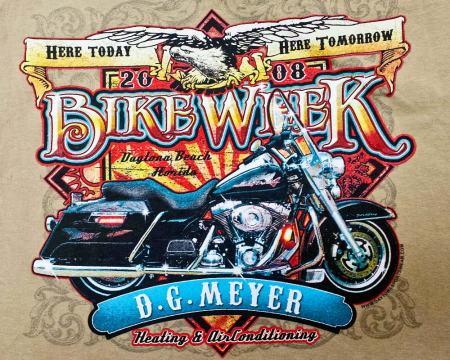 Bike Week Tee 2008