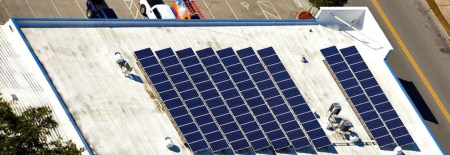 Solar array on roof of D. G. Meyer, Inc.