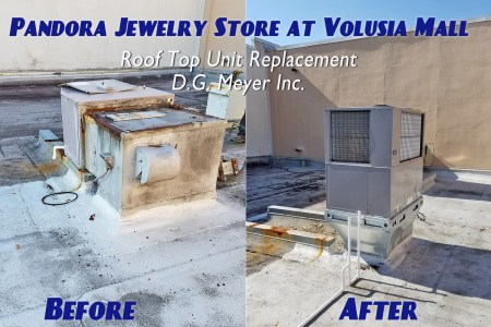 Pandora Jewelry Rooftop Unit: Before and After