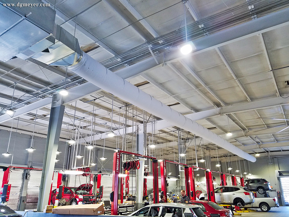 Deland Nissan- (2) New 20 ton Carrier split systems with fabric duct.
