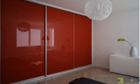 Red Floor-to-Ceiling Sliding Closet Doors | DNG