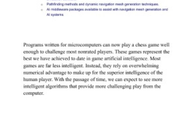 Artificial Intelligence In Interactive Games And