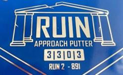 Infinite Discs Ruin putter stamp