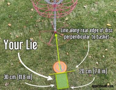 disc golf lie explained