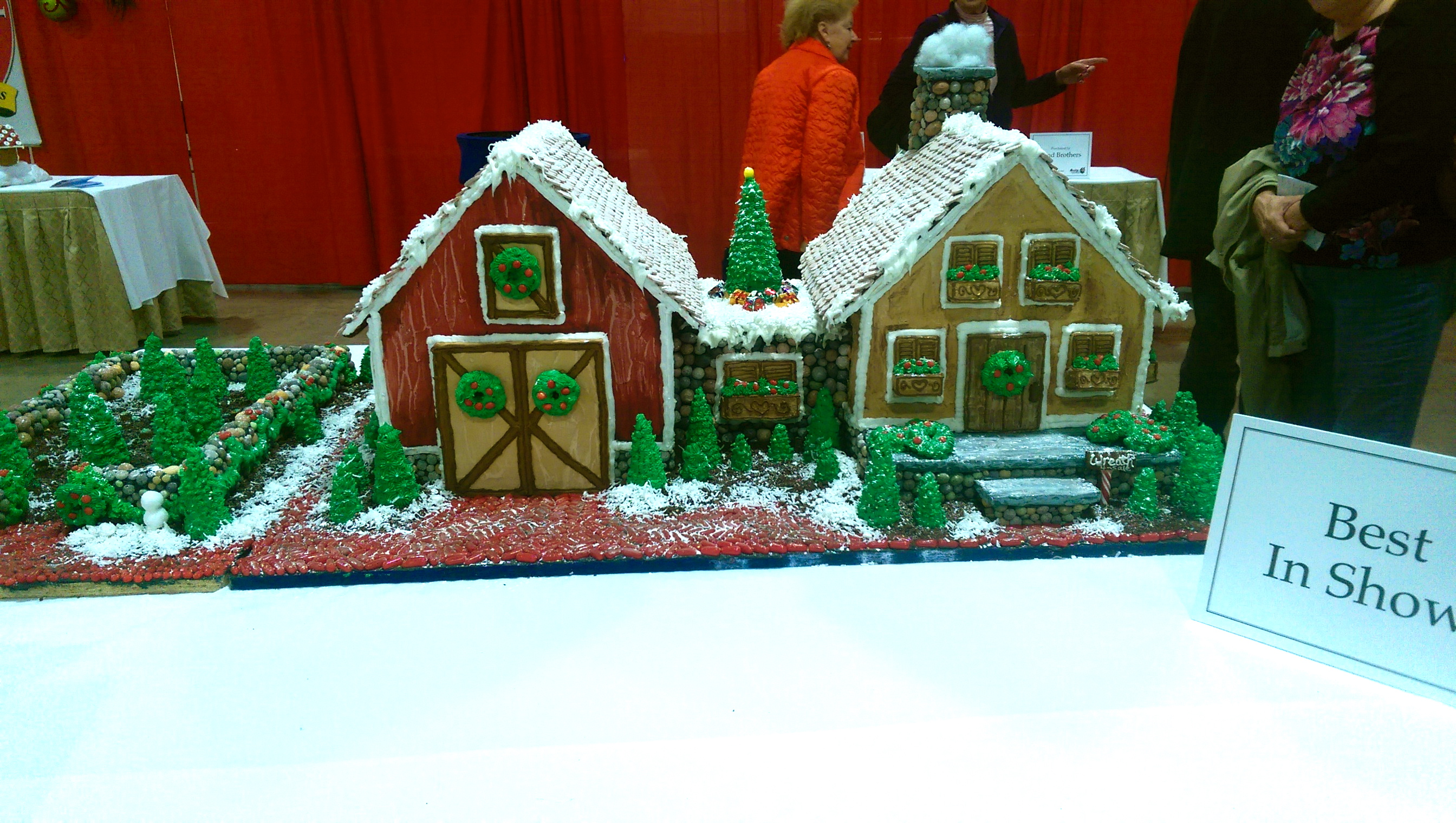 Boston Christmas Festival.Gingerbread House Contest Boston Christmas Festival A