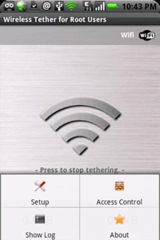 Opciones de Menu Wifi Tether