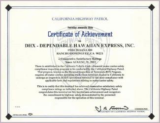 Shipping Certifications: DGX-Dependable Global Express