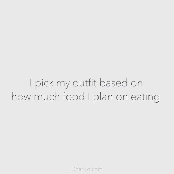 DhariLo Outfit based on food