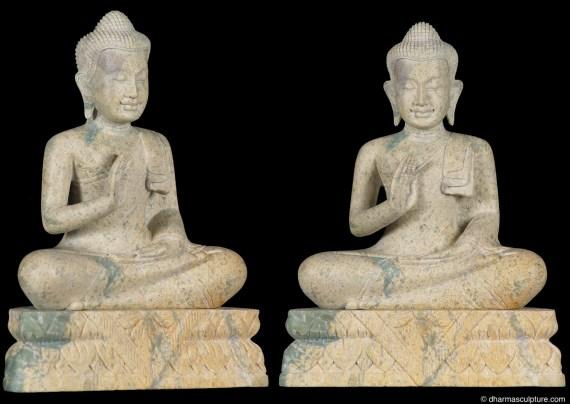 Abhaya Mudra Soapstone Buddha