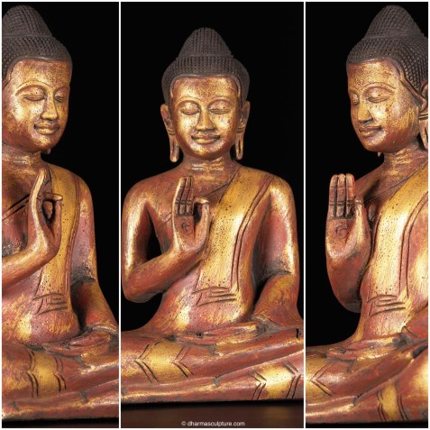 Golden Teaching Mudra Buddha Statue