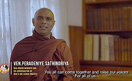 Bhante Sathi, a Sri Lankan-American monk, DVA Board member, and the Co-Coordinator of DVA's Sri Lanka Project