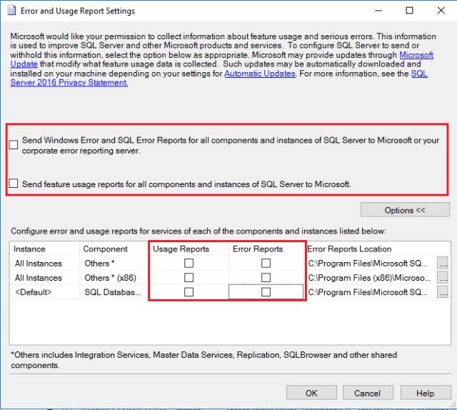 Error Log: Disable Or Turn-off SQL Server Telemetry Service