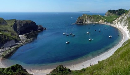 beach at lulworth cove