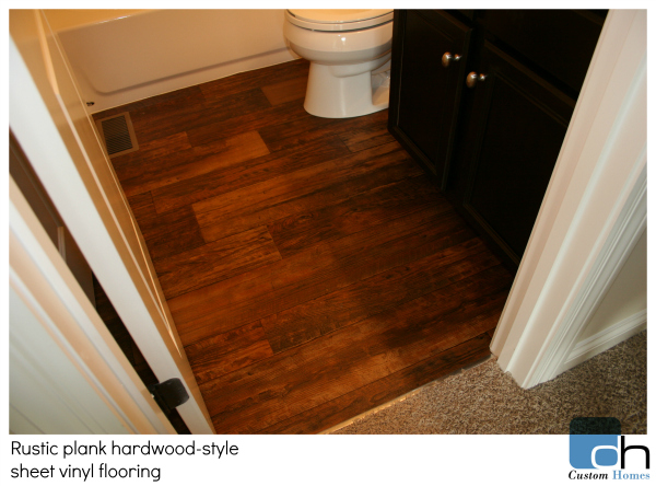 vinyl flooring provides the look