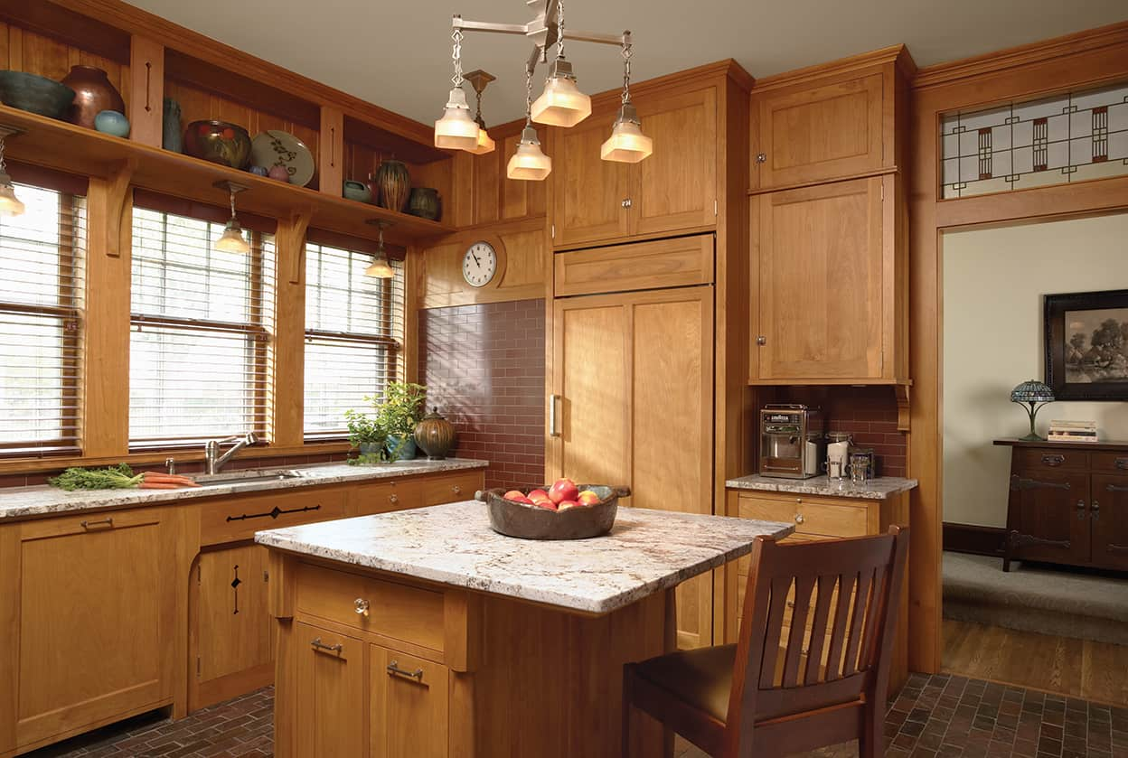 arts and crafts kitchen lighting cabinets martha stewart remodel david heide design studio