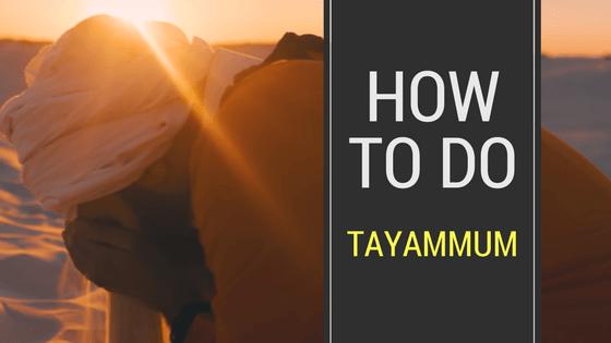 How To Do Tayammum