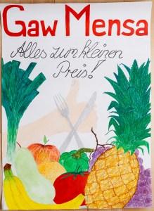 Plakat Mensa am GaW - Stefanie Hirsch