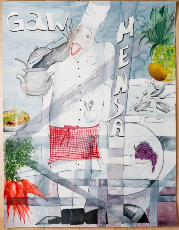 Plakat Mensa am GaW - Cynthia Haase - Platz 1 Schülerbewertung