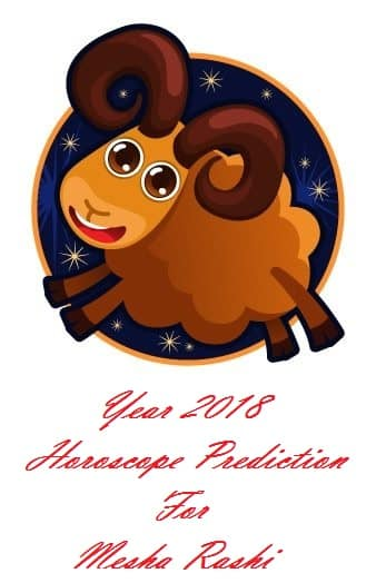 Year 2018 Horoscope Predictions For Mesha Rashi - Dhevee org