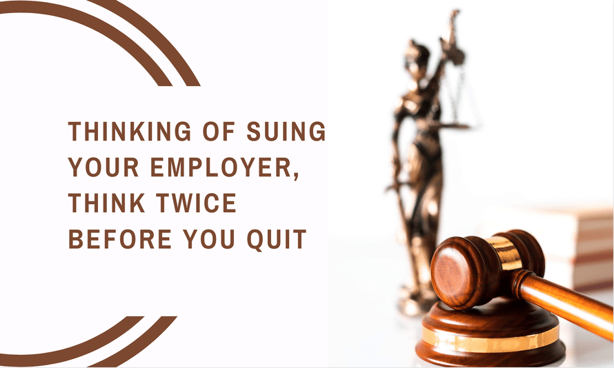 suing your employer in california